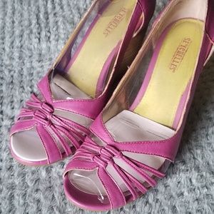 "Seychelles ""Far Away Place"" Plum Wedge Sandal Sz 7"